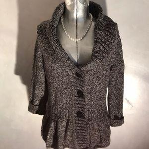 Christopher Banks Knit Ruffle Bottom Sweater A1-3